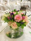 Flowers for reception tables with calla lilly and sweet avalanche roses