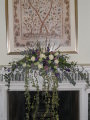 wedding country style mantelpiece arrangement