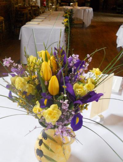 Wedding flowers the little flower pot spring flowers wedding arrangement mightylinksfo